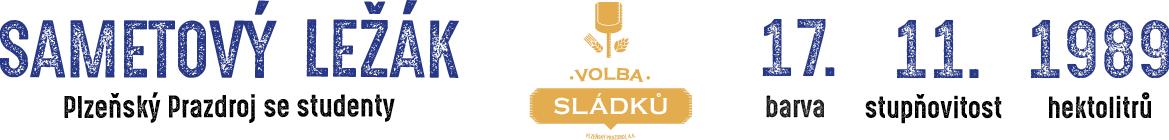 Sametový ležák - Plzeňský Prazdroj se studenty